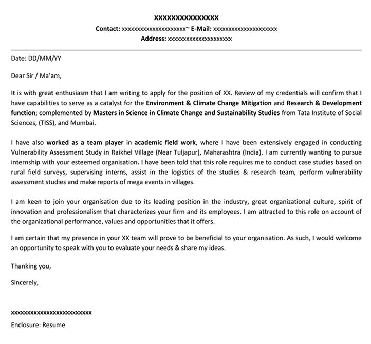 Cover Letter For Internship Cover Letter Template Naukri Com