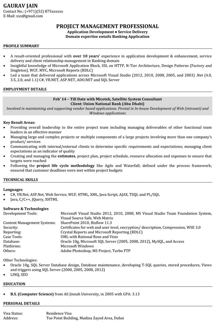 Software Engineer Resume Samples Sample Resume For Software Engineer Naukri Com